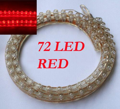 72er LED Strip Leiste Streifen 12V Auto Biegsam Rot 12V