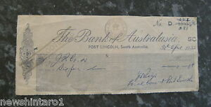 1952-PORT-LINCOLN-BANK-OF-AUSTRALASIA-CHEQUE