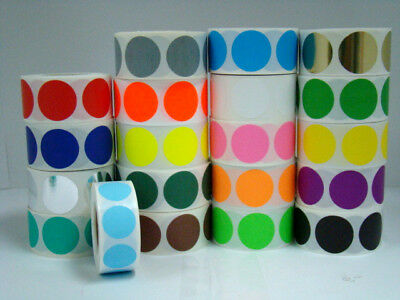 """1000 Labels Round 1/2"""" Inch ORANGE Color Coding Coded Inventory Sticker Dot"""