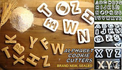 "26 Plastic Alphabet Cookie Cutters Set 1.5"" Baking NEW"