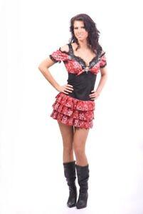 Costume-Fancy-Dress-Cowgirl-Farmer-Girl-All-Sizes-New