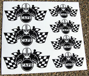 CAFE-RACER-Chequered-Flag-Helmet-set-stickers-decals