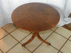 Walnut-Sunburst-Veneer-Round-Side-Table-End-Table-T272