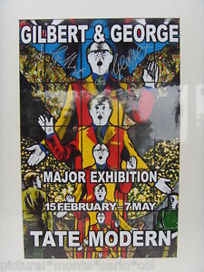 Gilbert georges affiche signee tate modern vintage for Poster contemporain