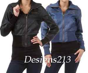 New-Faux-Leather-Bomber-Zipper-Jacket-4-Colors-S-to-XL
