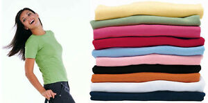 Ladies-T-Shirt-Size-8-10-12-14-16-18-20-10-Colours-New-Tee-Top