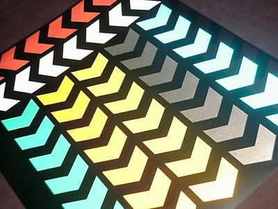 """48"""" Reflective CHEVRON stickers * 7 colours available * available in BLACK"""