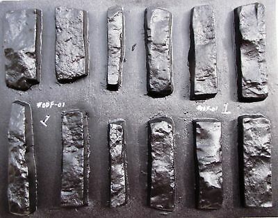 12 CONCRETE STONE MOLDS #ODF-01 MAKE DRYSTACK STACKSTONE STONE VENEER FOR WALLS