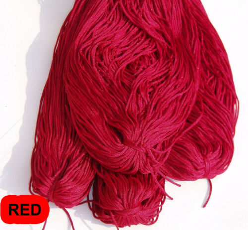 1MM JEWELLERY THREAD CORD FINE COLOURED STRING 5 METER