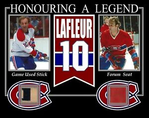 GUY-LAFLEUR-HONOURING-A-LEGENDS-PHOTO-W-GAME-USED-STICK-amp-MONTREAL-FORUM-SEAT