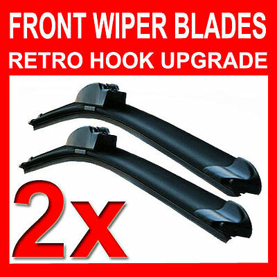 "26"" 28"" Aero FLAT Windscreen Front Wiper Blades Upgrade Pair Car"