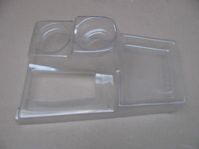 68-76 Corvette C3 SHIFTER CONSOLE COVER CUP HOLDER - clear plastic protector