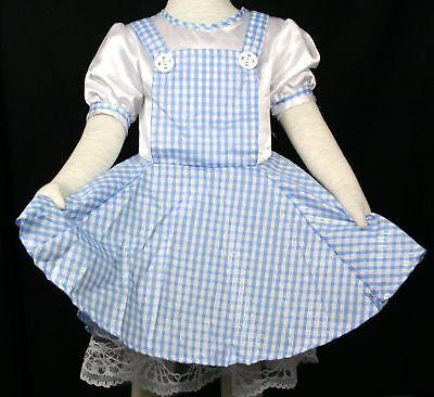 Halloween Xmas Birthday Girls Wizard Of OZ Dorothy Dress Up Fancy Costume 2-7Y