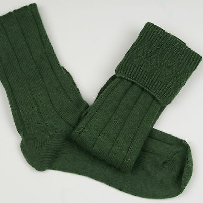 8 -10 ADULT lovat Green Kilt Socks 4 SPORRANS  also 4 Scout cubs  on SALE £9.99