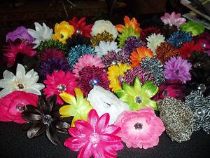 WHOLESALE-LOT-15-GIRLS-gerbera-DAISY-peony-ZEBRA-flower-CRAFT-hair-BRIDAL-tutu