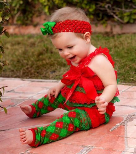 1-2 or 2-3 Years NWT Holiday Christmas Red /& Green Petti Romper