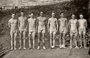 Photo-Reprint-4-x-6-handsome-men-in-swim-suits-Shirtless-gay-interest