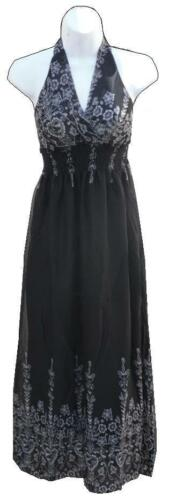 LADIES WOMENS MAXI DRESS STRETCH EVENING PARTY CHIFFON COCKTAIL SUMMER SKIRT