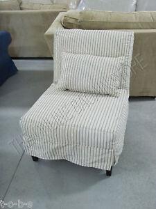 Pottery Barn Brooks Armless Slipcovered Sofa Accent Chair