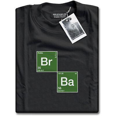 Bromine ( Breaking ) Barium ( Bad ) T-shirt Mens Black