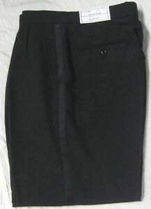 New-Mens-Black-Tuxedo-Pants-Bargain-Discount-Prom-Waiter-Server-Washable