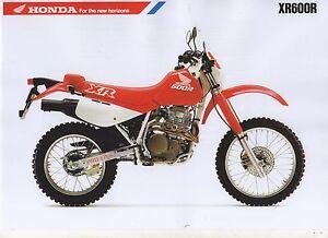 1989 HONDA XR600RK 2 Page Motorcycle Brochure NCS