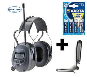 Digital-PELTOR-29db-Radio-Gehoerschutz-Kopfhoerer-mit-MP3-Anschluss-sattem-BASS