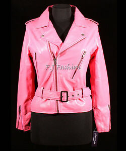 Kate Hot Pink Ladies Women's Biker Style Fashion Retro ...