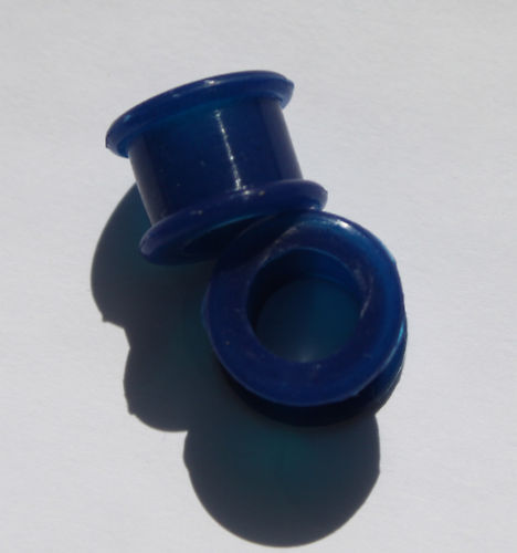 ONE PAIR Silicone Flexible Double Flare Earlet Plug 6g 1in ONE PAIR
