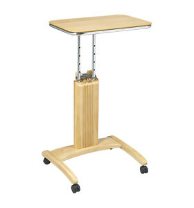 Details about MAPLE WOOD LAPTOP MOBILE COMPUTER TABLE PODIUM STAND