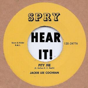 Rockabilly-JACKIE-LEE-COCHRAN-Pity-Me-Wanna-See-SPRY