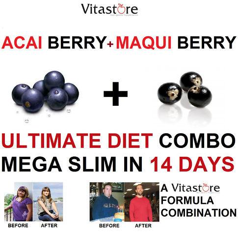 Acai berry + Maqui Berry ULTIMATE DIET COMBO Capsule.