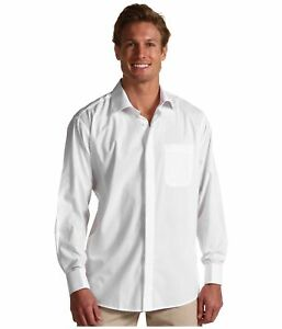 MENS-PREMIUM-SOLID-WHITE-DRESS-SHIRTS-100-COTTON-NEW-IN-PACKAGE