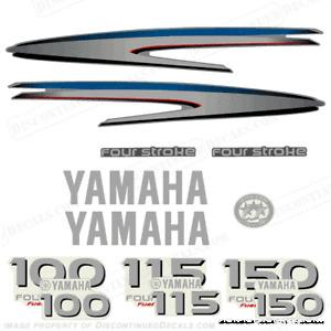 Yamaha 4 stroke 100 115 150hp outboard decal kit ebay for Yamaha 115 outboard 2 stroke