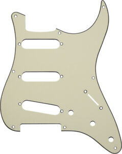 MIJ-Pickguard-Fender-Stratocaster-039-57-Aged-White-3-Ply