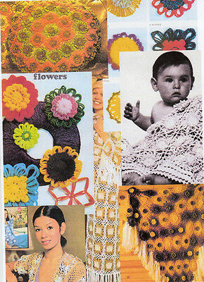 Vintage flower loom patterns for single flowers & shawls,cushions etc on CD