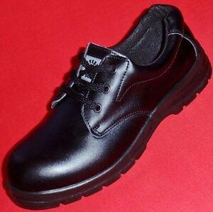 NEW Men's 8 Women's 9.5 STEEL DOG WILLIAM Slip Resistant Black Leather Work Shoe