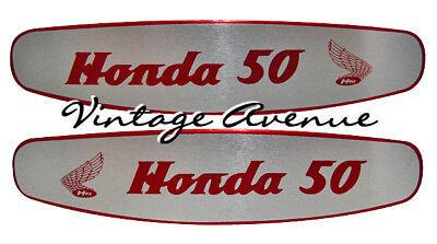HONDA CUB C50 C100 C102 FUEL TANK **ALUMINUM DECAL**