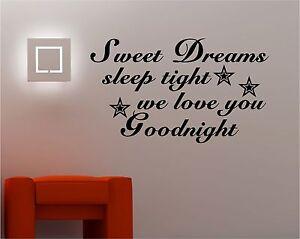 A Imagem Está Carregando Para Criancas SWEET DREAMS Wall Art Cotacao De  Part 98