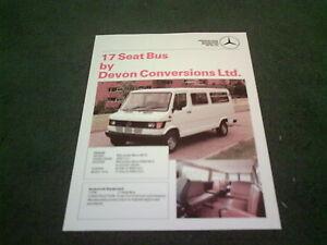 Image Is Loading 1989 DEVON CONVERSIONS MERCEDES BENZ 307D 17 SEAT
