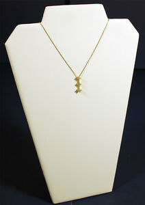 13-White-Leather-Pendant-Chain-Necklace-Jewelry-Display-Counter-Top-Stand