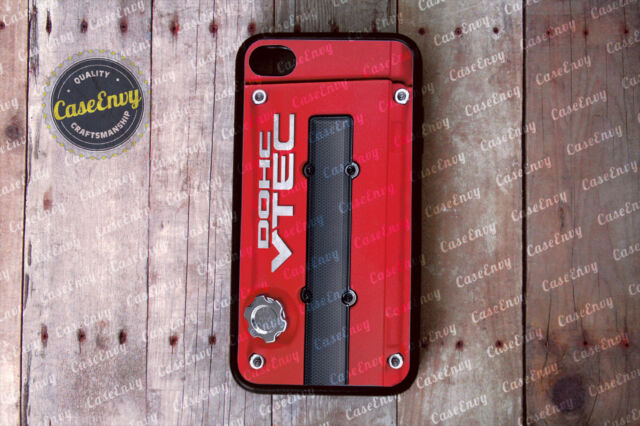 Honda DOHC Vtec Engine Inspired Red iPhone 4/4s Case Cover