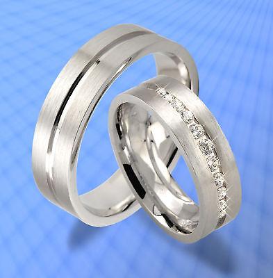 2 St.trauringe Verlobungsringe Silber Mit Gravur Jk5-10 üBerlegene Leistung