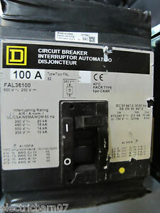 square d fal36100 100 amp 3 pole circuit breaker grey label ebay. Black Bedroom Furniture Sets. Home Design Ideas