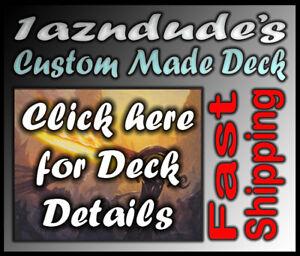 Magic-MTG-Custom-Made-Black-Blue-Zombie-Deck-w12-Rares