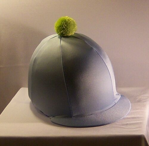 BABY BLUE RIDING HAT COVER