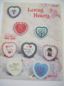 Krazy-Stitches-Loving-Hearts-Counted-Thread-Cross-Stitch-Leaflet-Pattern-Teacher