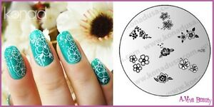 Image Is Loading Konad Stamping Nail Art Decal Plate M26