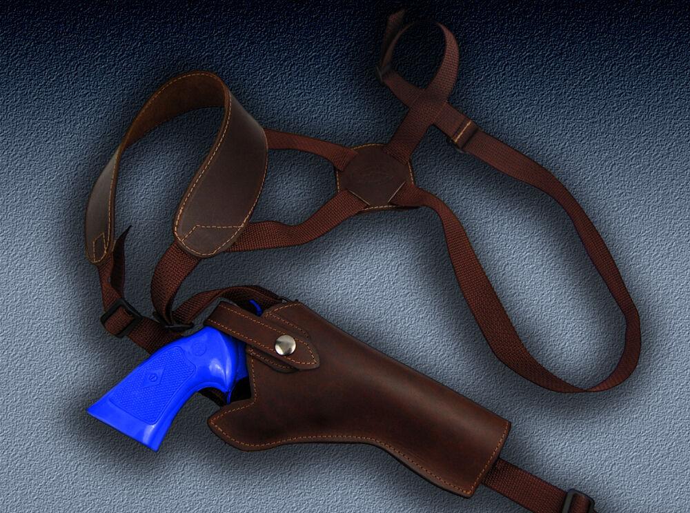 Barsony Braun Leder Vertical Shoulder Holster for S&W 625 625JM 629 647 648 4