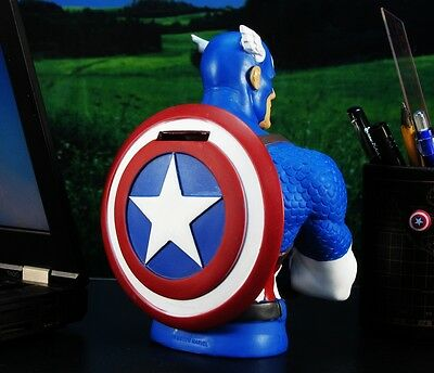 MARVEL SUPERHERO CAPTAIN AMERICA DC FIGURE AVENGER MODEL COIN PIGGY BANK A170